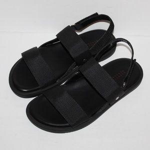 barney new york sandals black Men size 8